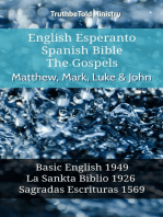 English Esperanto Spanish Bible - The Gospels - Matthew, Mark, Luke & John