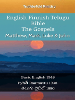 English Finnish Telugu Bible - The Gospels - Matthew, Mark, Luke & John