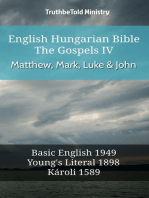 English Hungarian Bible - The Gospels IV - Matthew, Mark, Luke & John