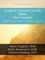 English Finnish Dutch Bible - The Gospels - Matthew, Mark, Luke & John