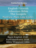English Finnish Albanian Bible - The Gospels - Matthew, Mark, Luke & John