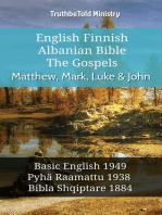 English Finnish Albanian Bible - The Gospels - Matthew, Mark, Luke & John