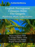 English Esperanto Cebuano Bible - The Gospels - Matthew, Mark, Luke & John