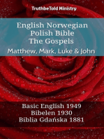 English Norwegian Polish Bible - The Gospels - Matthew, Mark, Luke & John