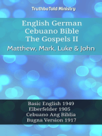 English German Cebuano Bible - The Gospels II - Matthew, Mark, Luke & John