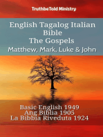 English Tagalog Italian Bible - The Gospels - Matthew, Mark, Luke & John