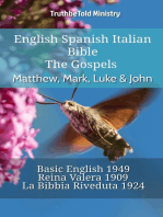 English Spanish Italian Bible - The Gospels - Matthew, Mark, Luke & John