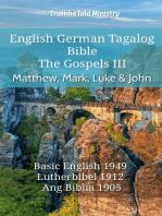 English German Tagalog Bible - The Gospels - Matthew, Mark, Luke & John