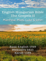 English Hungarian Bible - The Gospels II - Matthew, Mark, Luke and John
