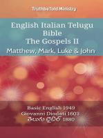 English Italian Telugu Bible - The Gospels II - Matthew, Mark, Luke & John