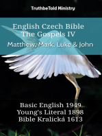 English Czech Bible - The Gospels IV - Matthew, Mark, Luke & John