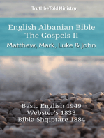 English Albanian Bible - The Gospels II - Matthew, Mark, Luke and John