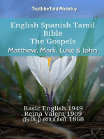 English Spanish Tamil Bible - The Gospels - Matthew, Mark, Luke & John
