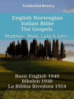 English Norwegian Italian Bible - The Gospels - Matthew, Mark, Luke & John