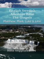 English Swedish Albanian Bible - The Gospels - Matthew, Mark, Luke & John