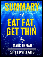 Summary of Eat Fat, Get Thin by Mark Hyman