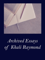 Archived Essays of Khali Raymond