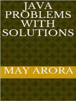 Java Problems with Solutions