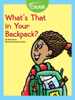 What's That in Your Backpack?