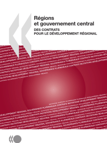 Régions et gouvernement central : Des contrats pour le développement régional