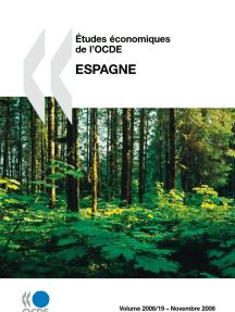 Études économiques de l'OCDE : Espagne 2008