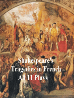 Shakespeare's Tragedies, in French Translation (all 11 plays)