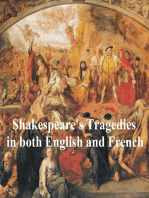 Shakespeare's Tragedies, Bilingual Edition, (English with line numbers and French Translation) all 11 plays