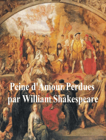 Peines d'Amour Perdues (Love's Labour's Lost in French)