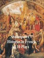 Shakespeare's Histories in French
