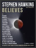 Stephen Hawking Quotes And Believes