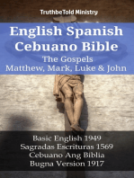 English Spanish Cebuano Bible - The Gospels II - Matthew, Mark, Luke & John