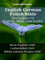 English German Polish Bible - The Gospels VII - Matthew, Mark, Luke & John