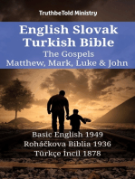 English Slovak Turkish Bible - The Gospels - Matthew, Mark, Luke & John