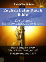 English Latin Dutch Bible - The Gospels - Matthew, Mark, Luke & John