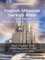 English Albanian Turkish Bible - The Gospels - Matthew, Mark, Luke & John: Basic English 1949 - Bibla Shqiptare 1884 - Türkçe İncil 1878
