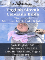 English Slovak Cebuano Bible - The Gospels - Matthew, Mark, Luke & John