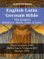 English Latin German Bible - The Gospels - Matthew, Mark, Luke & John: Basic English 1949 - Biblia Sacra Vulgata 405 - Menge 1926