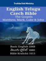 English Telugu Czech Bible - The Gospels - Matthew, Mark, Luke & John