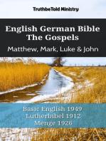 English German Bible - The Gospels - Matthew, Mark, Luke & John