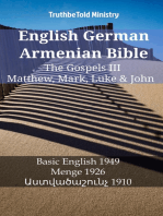 English German Armenian Bible - The Gospels III - Matthew, Mark, Luke & John
