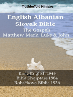 English Albanian Slovak Bible - The Gospels - Matthew, Mark, Luke & John