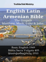 English Latin Armenian Bible - The Gospels - Matthew, Mark, Luke & John