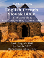English French Slovak Bible - The Gospels II - Matthew, Mark, Luke & John