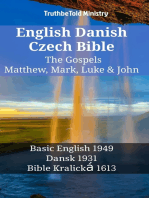 English Danish Czech Bible - The Gospels - Matthew, Mark, Luke & John