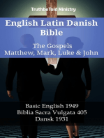 English Latin Danish Bible - The Gospels - Matthew, Mark, Luke & John