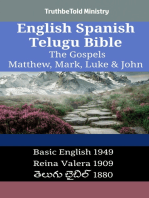 English Spanish Telugu Bible - The Gospels - Matthew, Mark, Luke & John