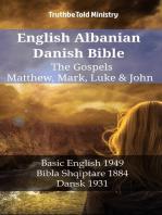 English Albanian Danish Bible - The Gospels - Matthew, Mark, Luke & John