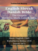 English Slovak Danish Bible - The Gospels - Matthew, Mark, Luke & John