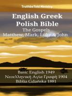 English Greek Polish Bible - The Gospels - Matthew, Mark, Luke & John