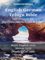 English German Telugu Bible - The Gospels III - Matthew, Mark, Luke & John
